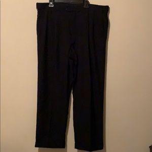 Black pleated men's business pants